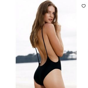 Zaful backless high cut one piece bathing suit